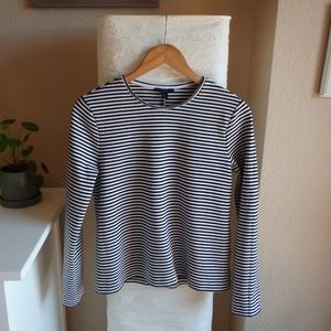 COS Striped Round-Neck Top
